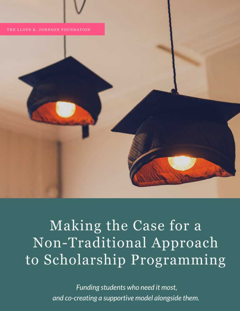 Making the Case for a Non-Traditional Approach to Scholarship Programming